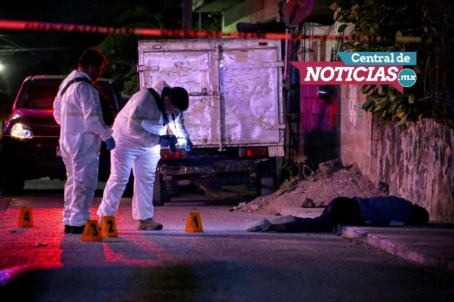 Ataque a balazos en Emiliano Zapata | Fotografía: Margarito Pérez Retana | Central de Noticias Mx