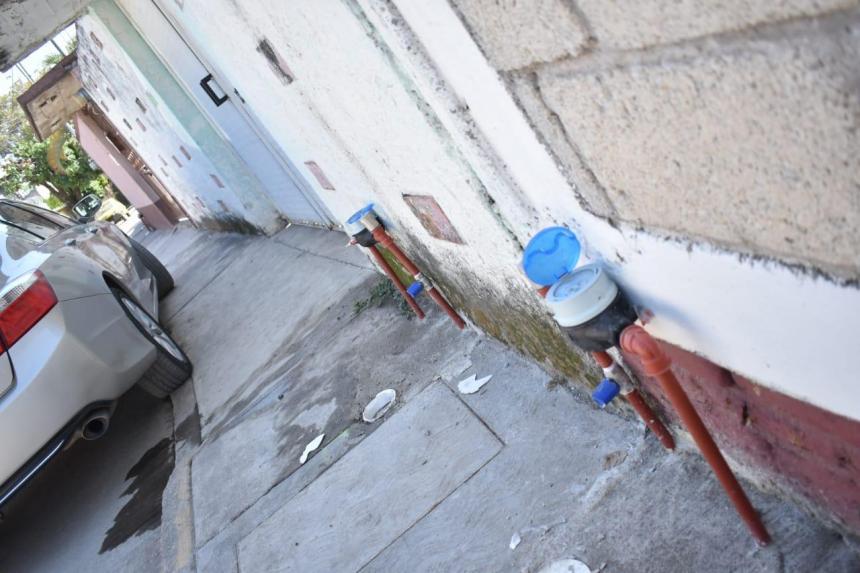 agua potable en la unidad habitacional La Rosa 03