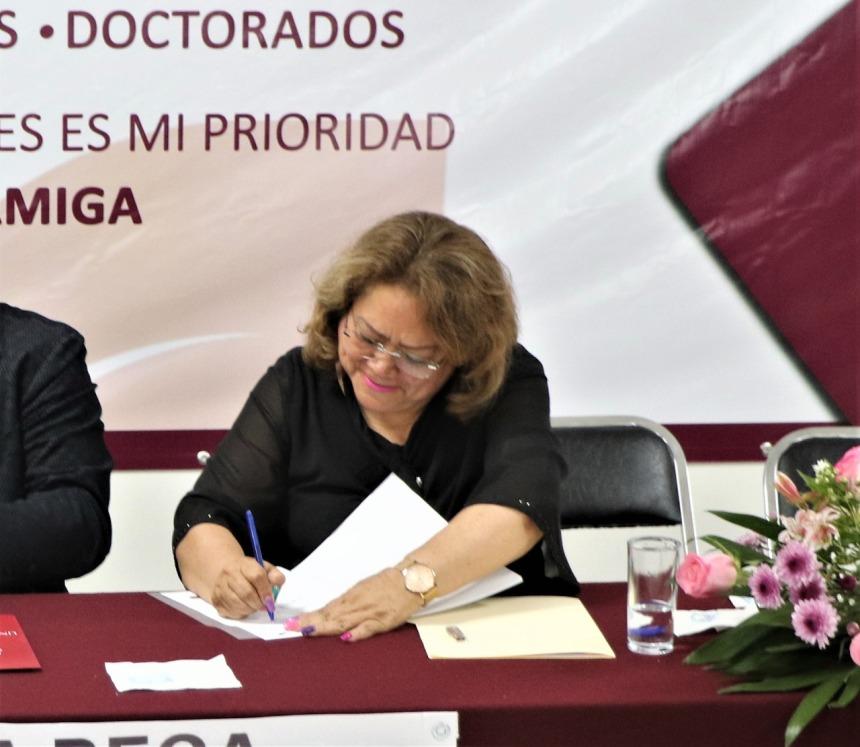 SUSCRIBE CONVENIO DE COLABORACIÓN LA DIPUTADA ELSA DELIA GONZÁLEZ CON LA UNIVERSIDAD SANTANDER . 01jpeg