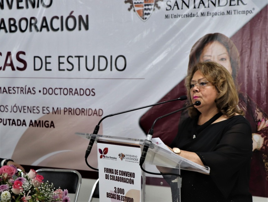 SUSCRIBE CONVENIO DE COLABORACIÓN LA DIPUTADA ELSA DELIA GONZÁLEZ CON LA UNIVERSIDAD SANTANDER . 06jpeg