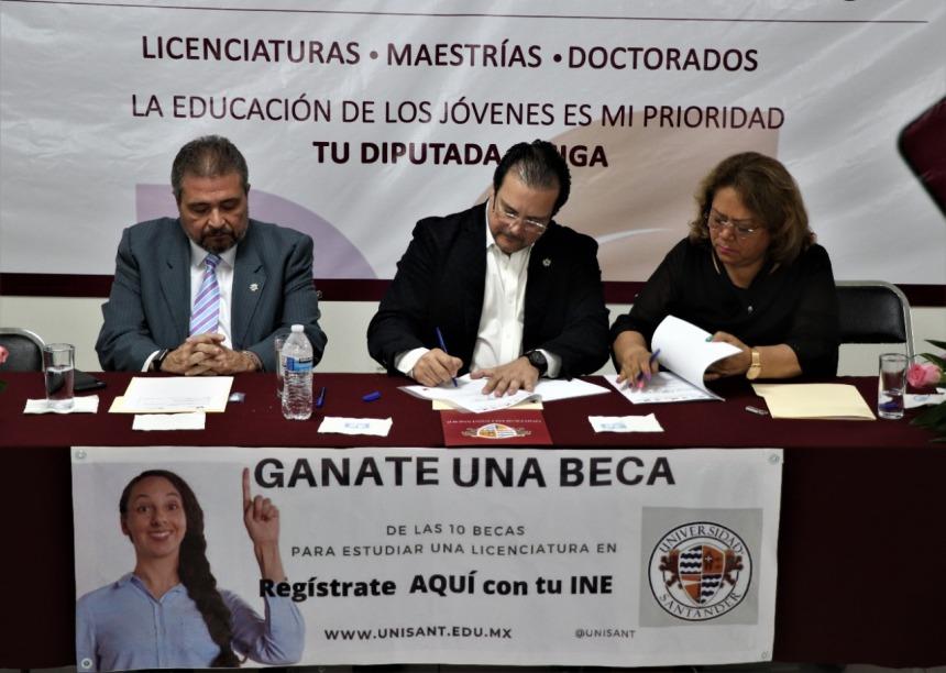 SUSCRIBE CONVENIO DE COLABORACIÓN LA DIPUTADA ELSA DELIA GONZÁLEZ CON LA UNIVERSIDAD SANTANDER . 08jpeg