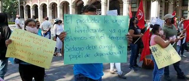 Protesta de campesinos